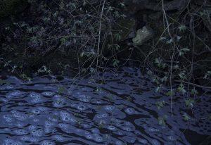 Schaumiges Wasser